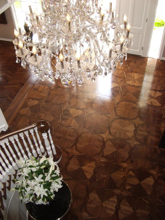 Parquet by Dian's Roulette Pattern Parquet Floor in Walnut