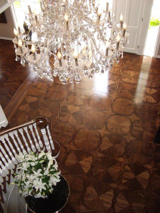 Parquet by Dian's Roulette Pattern Parquet Floor in Walnut