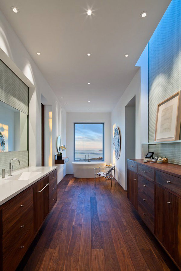 Walnut Wood Flooring in Modern Interior