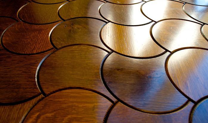 parquet floor in lotus pattern