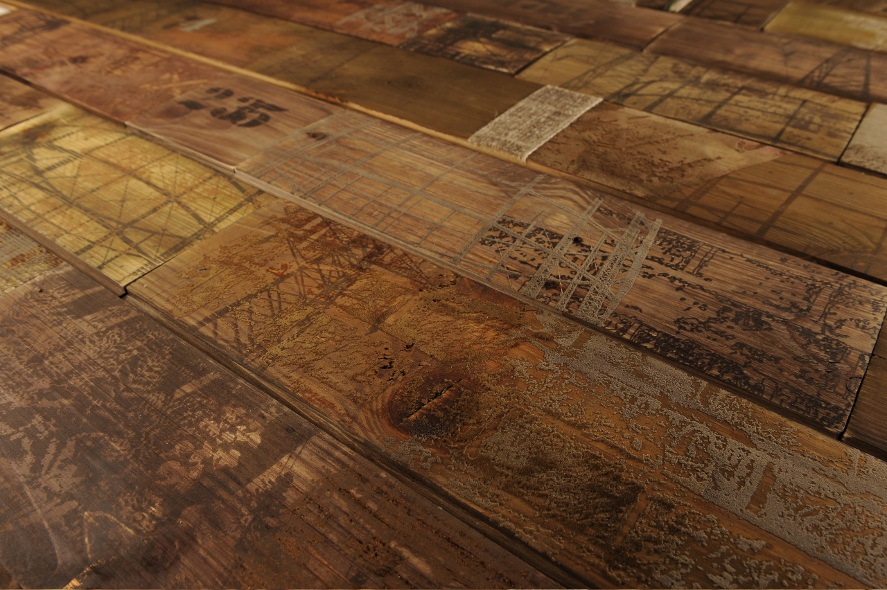 Emerging trend printed and topical texture treatment on for Floor wood texture