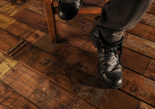 Printed and Textured Wood Flooring