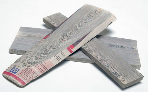 Old Newspaper's become New Wood
