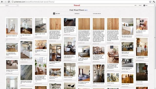 Pinterest and Hardwood Floor