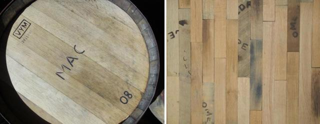 Wood flooring made from reclaimed whisky barrels