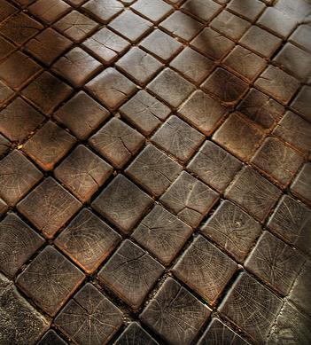 Cobblestone Wood Floor