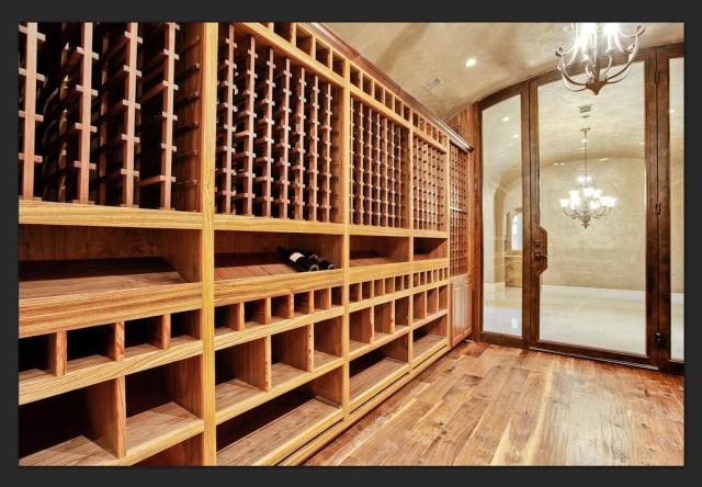 wood floors in a wine cellar