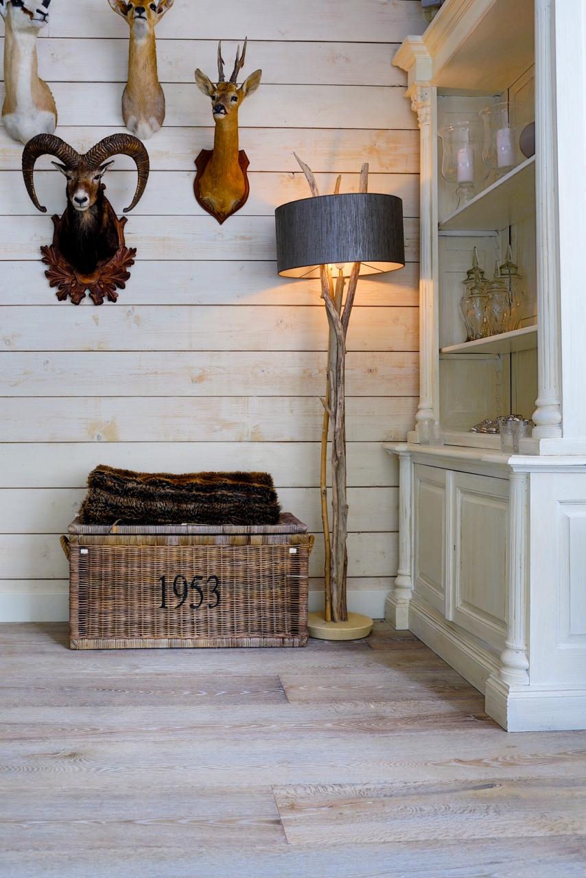 theme grounded with white-washed euro white oak wood floors ...