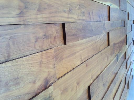 Walnut wood wall decor.
