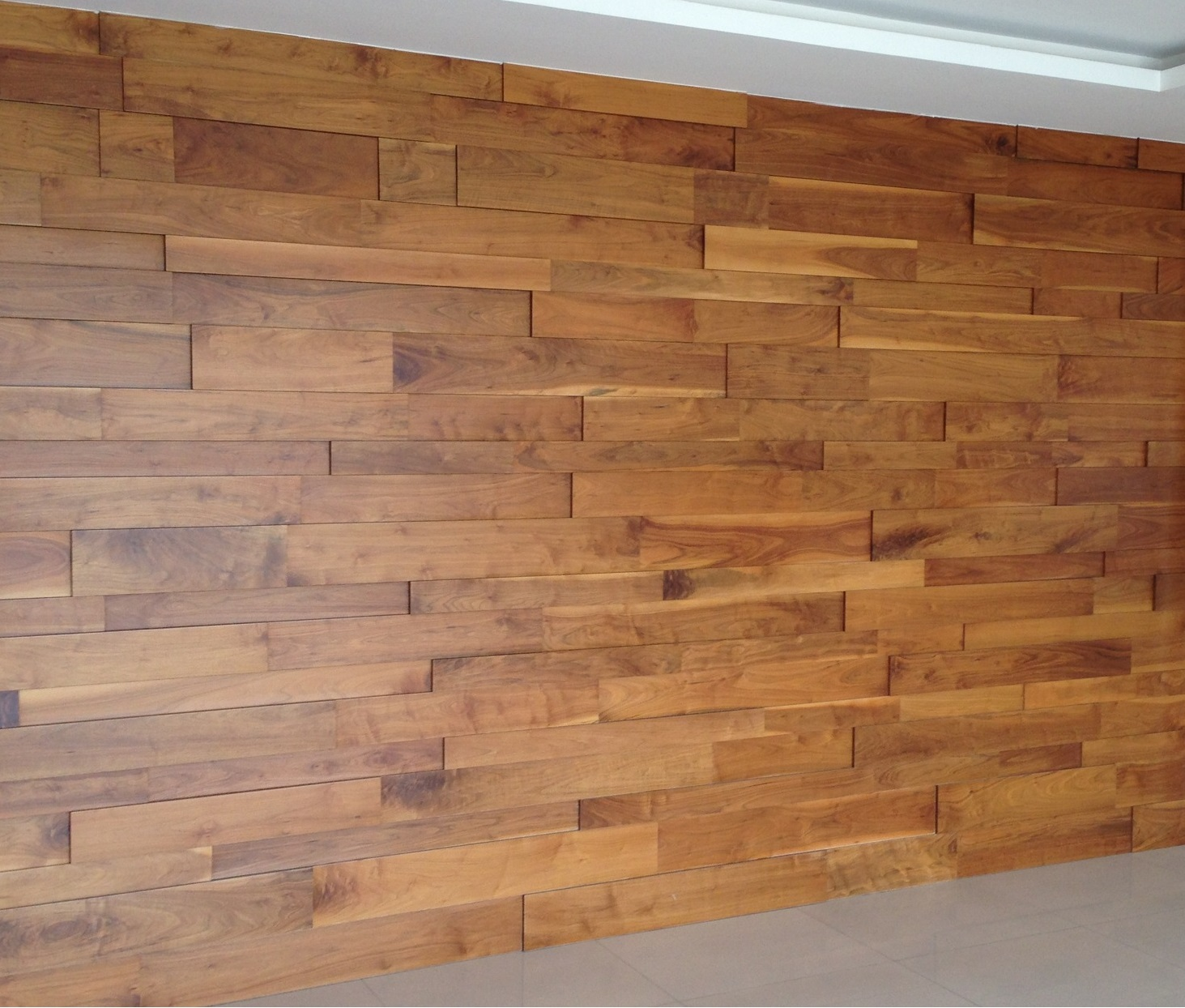Wood wall covering woodflooringtrends for Hardwood floor covering