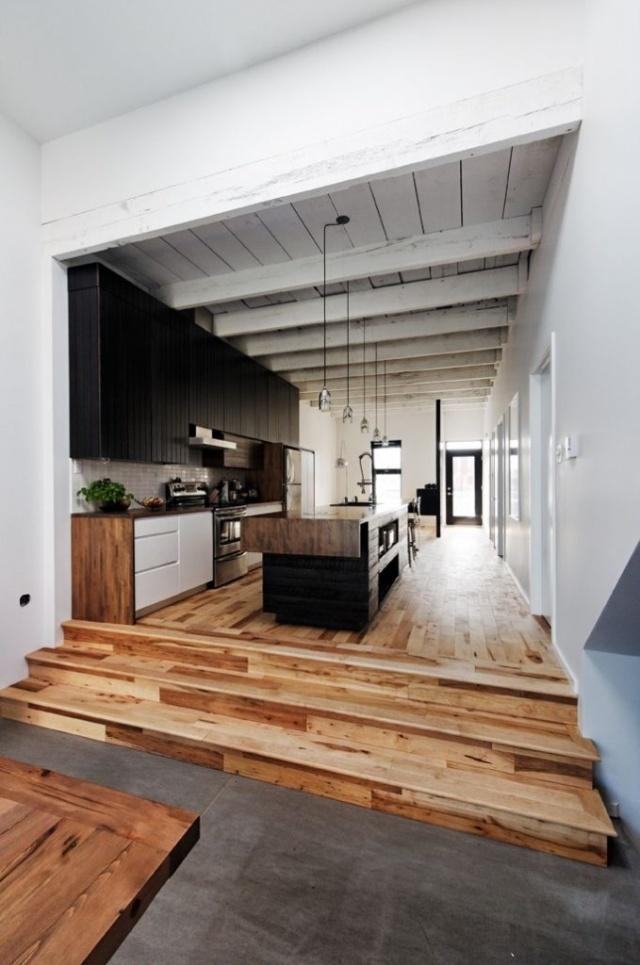 rustic hardwood floor